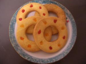 【K'S】カラフル!!リング◎リングクッキー(10枚入り)