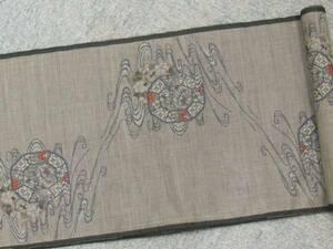 ☆大島紬☆(韓国産) 韓国産大島紬着尺 反物 生地 9マルキ 草木泥 お宝希少品 正絹 手芸趣味素材にも! 510642