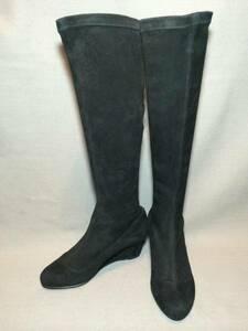 新品 展示品 ブルーノ マリ スウェード レザー ロング ブーツ 34 本革 革靴 シューズ 靴 BRUNO MAGLI