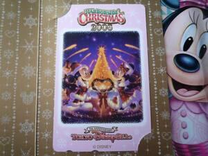 即決☆新品未使用☆東京ディズニーシー ハーバーサイドクリスマス 2006 テレホンカード テレカ TDS5周年