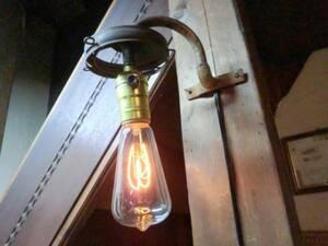 1800年代USAヴィンテージ ガス灯ウォールランプ♪工業系骨董C