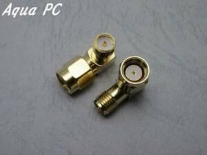 AquaPC★RP-SMA Male to RP-SMA Female Adapter L変換★501