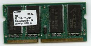 Note for memory 256MB PC133 144Pin[ Toshiba, Mitsubishi, Matsushita,CASIO] prompt decision affinity guarantee used