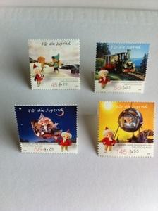 即決●ドイツサンドマン50周年切手4種組●ザントマンDDR東欧雑貨