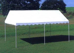 白いテント パイプテント イベント 交換用天幕 最安 運動会 1間×2間 ターポリン