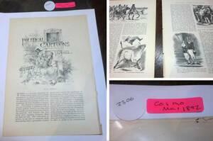 1892年 ジョン・テニエルPOLITICAL CARTOONS 不思議の国のアリス