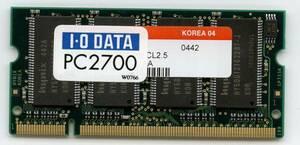 I/O DATA SDD333-512M PC2700 200Pin 512MB prompt decision affinity guarantee used