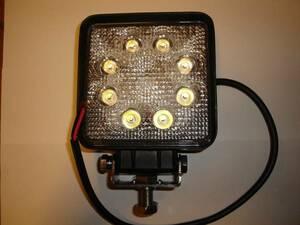 高輝度 LED3W×9ライト 超寿命 角度調整付 ユンボ 重機全般 トラック ダンプ コンバイントローラー タイヤショベル 建設機械
