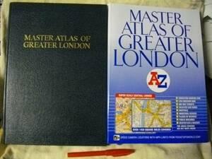 [英語] MASTER ATLAS OF GREATER LONDON ロンドン地図 2冊