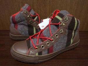 CONVERSE ALLSTAR コンバース オールスター DO WOOL 【1C067】ブーツ スニーカー ブラウンレザー 茶 28.0cm