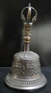 ◆チベット密教法具 ガンター(金剛鈴)ブラックカラーL