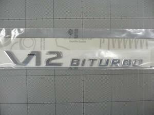 ★★AMG純正品 V12 BITURBO サイドエンブレム W220・W215 ベンツ用 1枚(現品のみ特別価格) ★