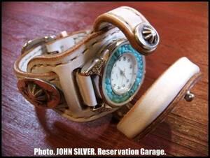 【クロウドッグ】CROW DOG/本革/腕時計/ホワイト