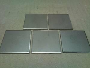 288★sus304 2B ステンレス切板 端材40×40 2mm 5枚