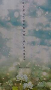 進撃の巨人同人誌★リヴァエレ長編小説★世界の終り「眠り姫は白詰め草の咲く頃に目を覚ます」