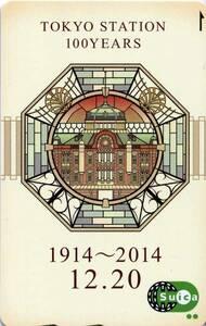 Suica【未使用】東京駅開業100周年記念(折れ無し専用台紙付)