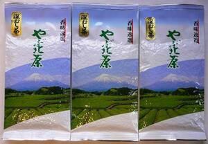 静岡茶通販▼かのう茶店【即決】深蒸し茶 100g3個 送料無料
