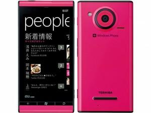 【新品未使用】 au 東芝 Windows Phone IS12T マゼンタ 判定○