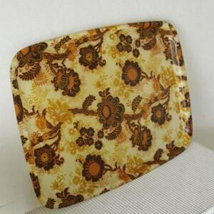 イギリス直輸入 ビンテージトレー お盆 アンティーク雑貨 ブロカント小物レトロ年代物 花柄