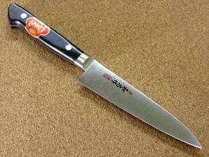 関の刃物 ペティナイフ 12.5cm (125mm) VG-1 V金1号 ステンレス系高炭素鋼 共口金 果物包丁 野菜 果物の皮むき 小型両刃 プロ仕様 日本製