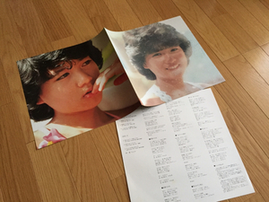堀ちえみ 8ページカラー写真集 LPサイズ 歌詞カード付き