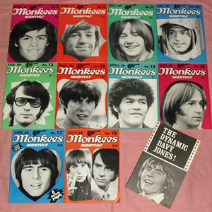 ◆(送込)輸入雑誌◆モンキーズ [MONKEES MONTHLY]10冊+おまけ[THE DYNAMIC DAVY JONES!]◆