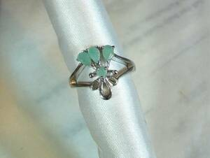 [T's] SR1283 Ring Silver 925 Ring No. 13 Emerald