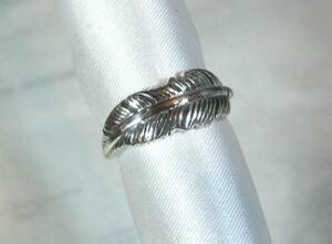 [T's] SR1366 Ring Silver 925 Ring Ring 11 Indian Feather