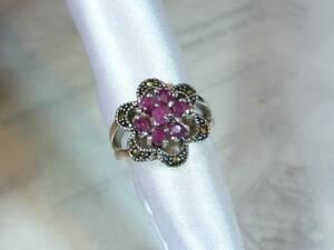 [T's] SR1274 Ring Silver 925 Ring Ring 10.5 Ruby Hematite
