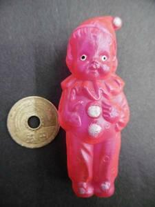古い★ピエロの少年・ミニセルロイド人形・昔玩具昭和レトロ★