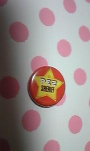 PEZ SHERIFF 缶バッジ 年代物 定形外発送 レア
