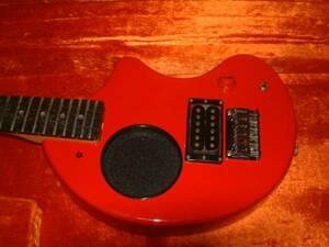 フェルナンデス FERNANDES ZO-3 赤 レッド 美品! アンプ スピーカー 内蔵 トラベルギター 電池使用可! 良音! 昔から小型ギターの超名機!