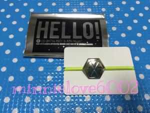 EXO* Gris pa*Greeting Party Hello* official goods * hair elastic * yellow color