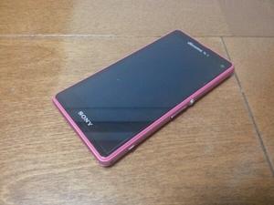 売り切り 即発!!美中古品 SO-02F Xperia Z1f ピンク