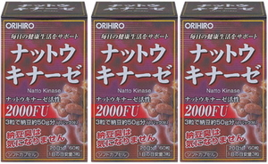 ナットウキナーゼ■60粒入×3個セット■オリヒロ■納豆キナーゼ