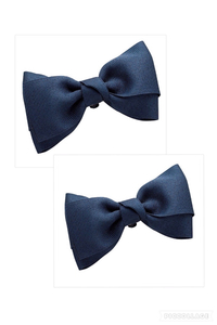 Rate Send 120 ~ / Anonymous Ribbon Shoe Clip Navy Blue Handmade Handmade Shoes Clip Hand Craft