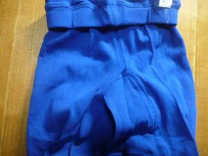 Unused retro tights with open window Blue rare products
