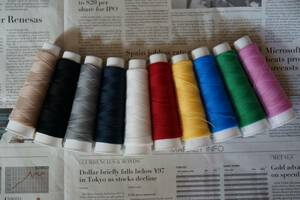 *ニット専用ウーリーミシン糸*定番カラー10色セット