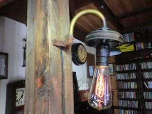 1800s米国スチームパンクガス灯ウォールランプ♪工業系男前照明F
