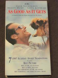As Good As It Gets [VHS] [Import] 邦題「恋愛小説家」