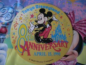 即決♪新品未使用♪東京ディズニーランド 25周年記念 8周年 缶バッジ ポストカード♪TDR TDL TDS♪
