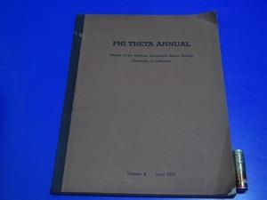 ★1953年洋書 東洋学 『PHI THETA ANNUAL』中国学言語学漢字仏教等