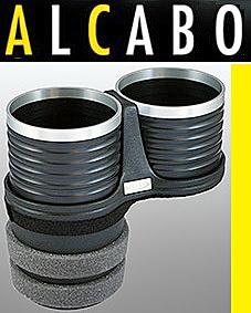 【M's】W204 ベンツ AMG Cクラス(2007y-2013y)ALCABO 高級 ドリンクホルダー(BK+リング)//純正ポケットのフロント側 AL-M312BS ALM312BS