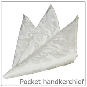 【フォーマル】ポケットチーフ/シルク■日本製/白 ホワイト 総柄
