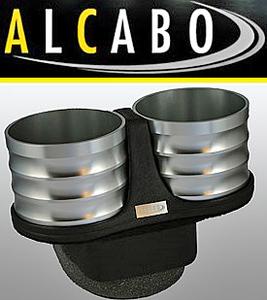 【M's】VW ポロ 6R 5代目(2009y-)ALCABO ドリンクホルダー(シルバー)//※アームレスト仕様車用 高級 アルカボ カップホルダー AL-T116S