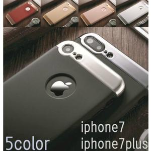 【メール便・送料無料】iphone7plus カバー メタリックフレーム マット 艶消し アイフォンケース【1704201548】【ブラック】#%j