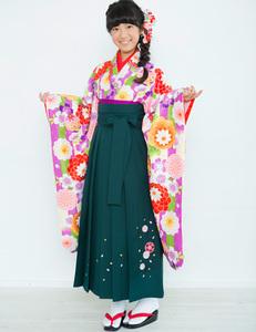着物袴セット ジュニア用 小町 145~154cm 新品 (株)安田屋 NO26076