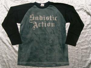 サディスティックアクション SADISTIC ACTION メンズ長袖Tシャツ Mサイズ NO11 新品