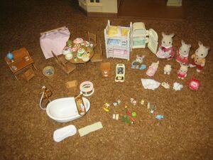 ★シルバニアファミリー 人形家具大量 あかりの灯る大きなお家