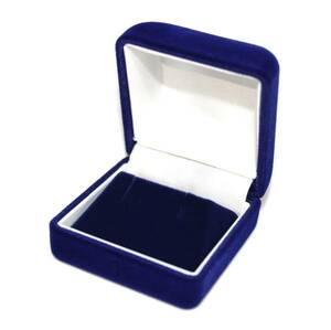 ピアス/ネックレス/イヤリング プレゼント 高級ジュエリーケース/アクセサリーボックス/ネイビー ブルー ハンドメイド/収納/ギフト/贈り物
